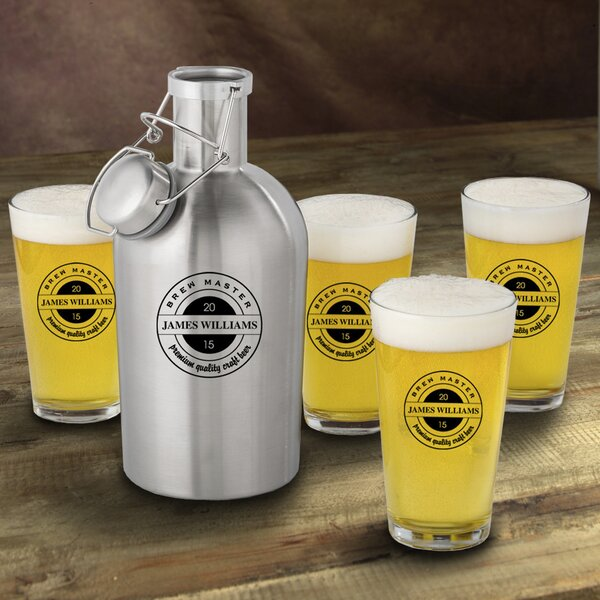 Brew Master Personalized 5 Piece Beverage Serving Set by JDS Personalized Gifts