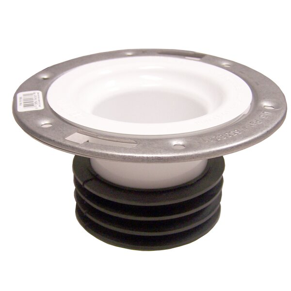 Universal Closet Flange with Stainless Steel Ring by GenovaProducts