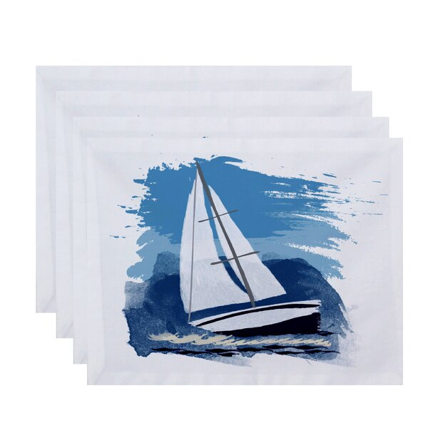 Golden Gate Sailing the Seas Placemat (Set of 4) by Beachcrest Home