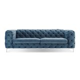Koffler Velvet Chesterfield 94 Rolled Arm Sofa by House of Hampton®
