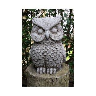 Large Stone Garden Ornaments Large stone garden ornaments wayfair owl stone garden statue workwithnaturefo
