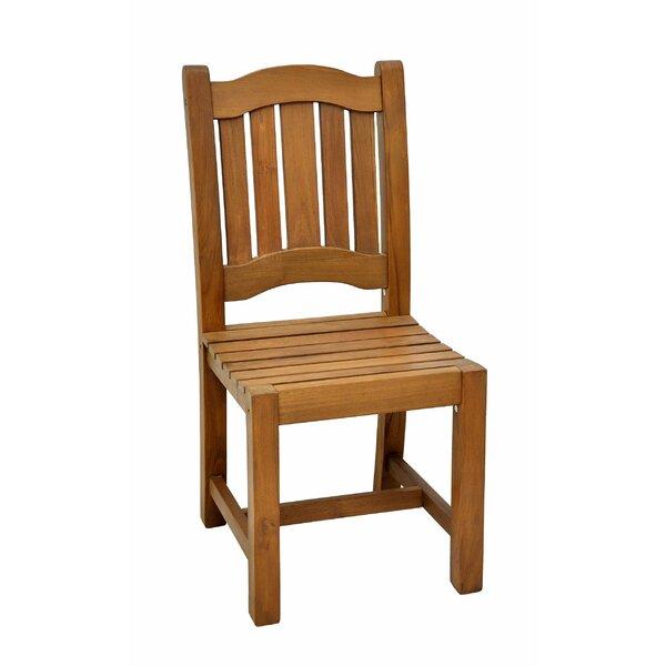 Octavio Teak Patio Dining Chair by Loon Peak