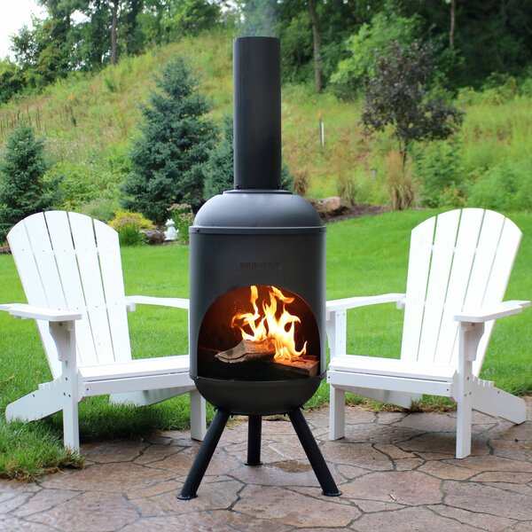 Raymon Outdoor Steel Wood Burning Chiminea by Darby Home Co