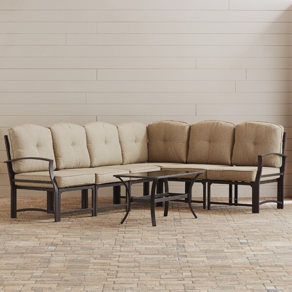 Pavilion 7 Piece Sectional Set with Cushions by Three Posts
