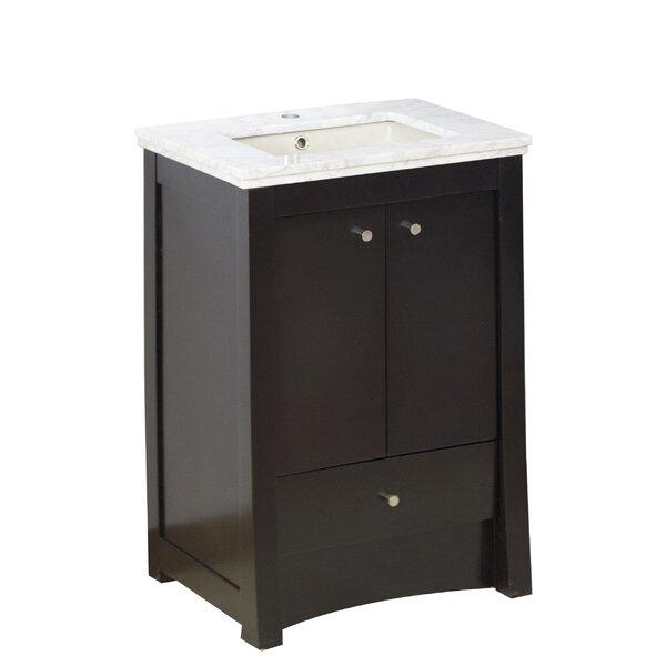 Hardenburgh Modern Drilling Floor Mount 24 Single Bathroom Vanity Set by Latitude Run