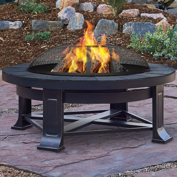 Steel Wood Burning Fire Pit by Real Flame