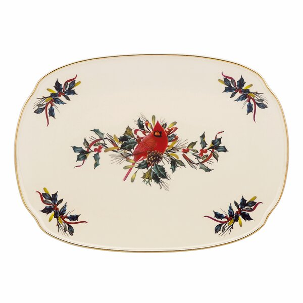 Winter Greetings Oblong Platter by Lenox