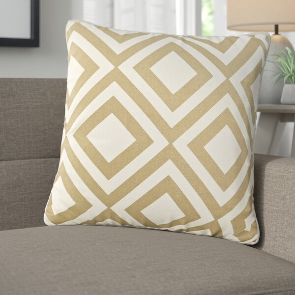 Camila Printed Diamond Cotton Throw Pillow by Langley Street