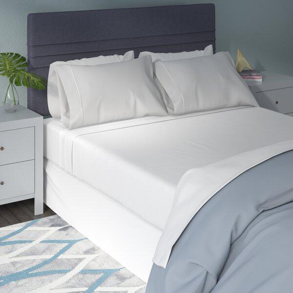 Bridgecliff Long-Staple Combed 530 Thread Count Premium Cotton Solid Sheet Set by Eider & Ivory