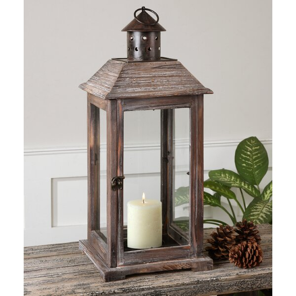 Denley Wood Lantern by Uttermost