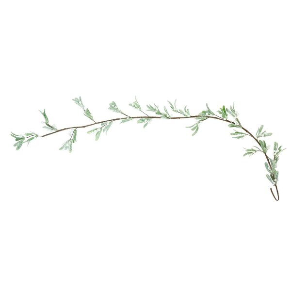Glittered Artificial Mistletoe Branch Christmas Garland by The Holiday Aisle