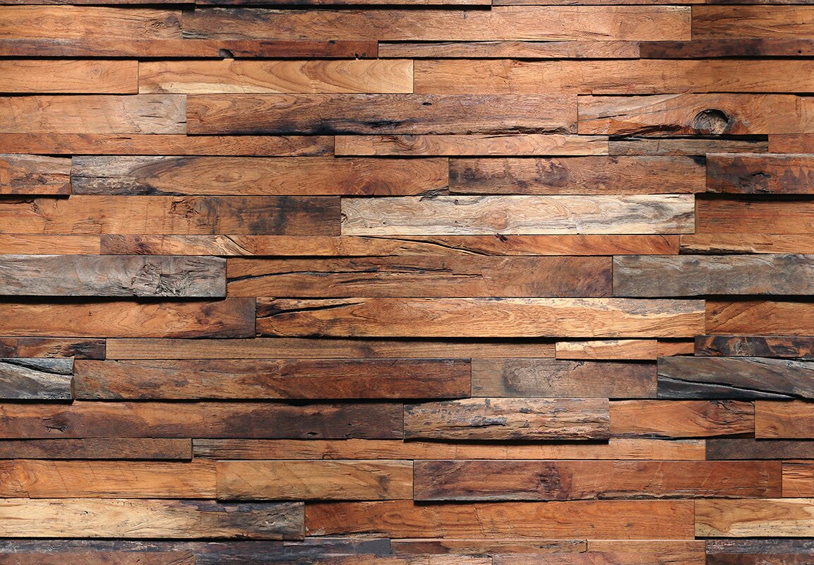 "Wood Wall Mural wallpops! reclaimed 12' x 100"" wall mural & reviews 