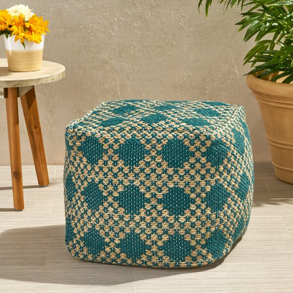 Bembry Boho Outdoor Ottoman by Bungalow Rose