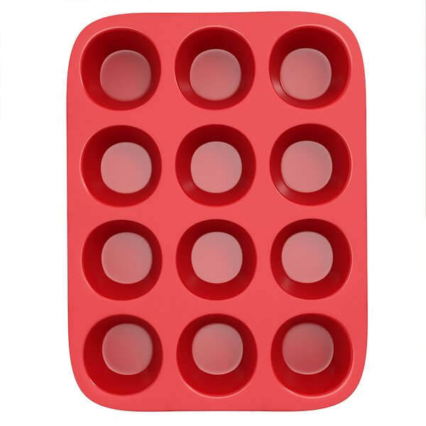 12-Cup Non-Stick Silicone Muffin Pan by Chef Buddy