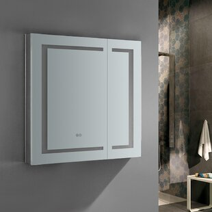 Great choice Spazio 30 x 30 Recessed or Surface Mount Frameless Medicine Cabinet with LED Lighting and Defogger By Fresca