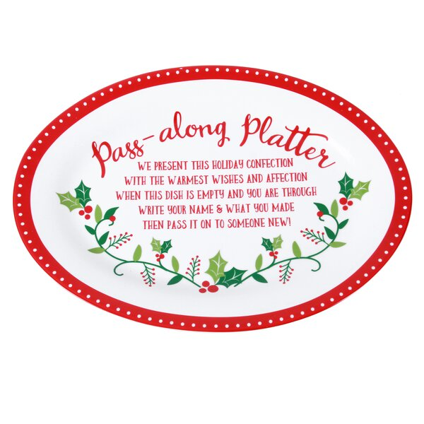 Merry and Bright Pass Along Platter by The Holiday Aisle