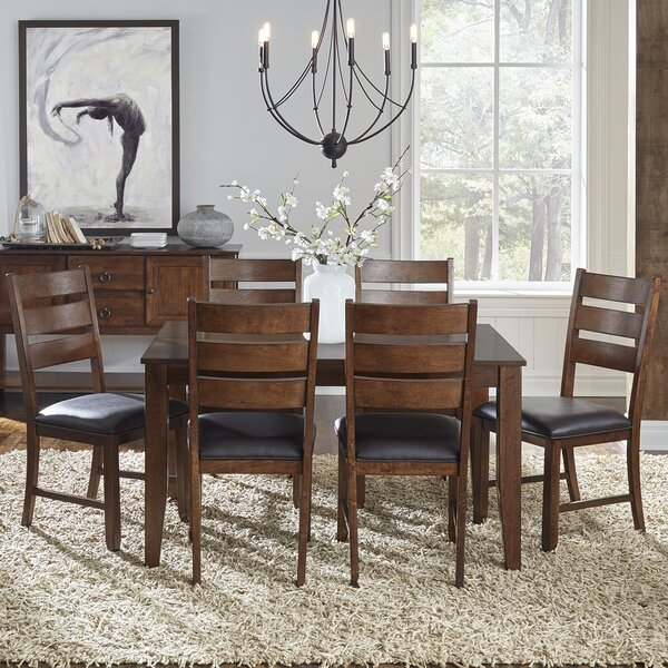 #2 Caracara 7 Piece Extendable Solid Wood Dining Set By Trent Austin Design Sale