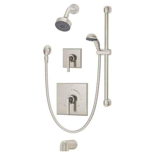 Duro Pressure Balance Tub and Shower System with Lever Handle by Symmons