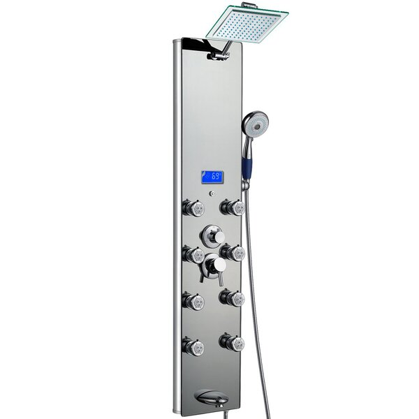Tower Pressure Balanced Thermostatic Rain Shower Panel - Includes Rough-In Valve By Akdy.