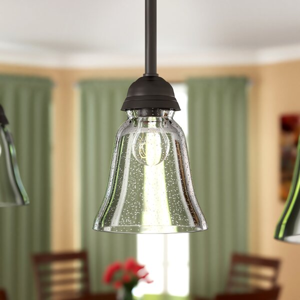 Seeded 5 Glass Bell Pendant Shade by Charlton Home