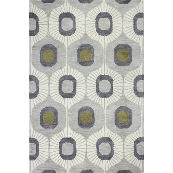 Brandon Hand-Tufted Wool Silver Area Rug by George Oliver