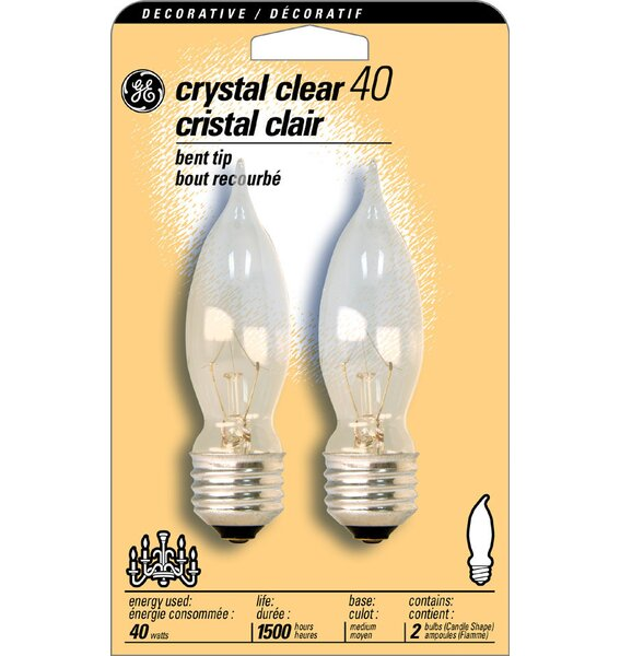 40W (2500K) Light Bulb (Pack of 2) by GE