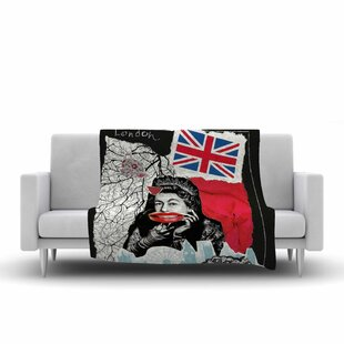 Reviews Jina Ninjjaga London Illustration Fleece Blanket ByEast Urban Home