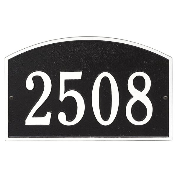 Legacy 1 Line Wall Address Plaque By Old Century Forge.