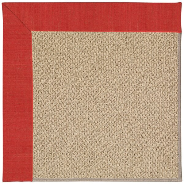 Lisle Machine Tufted Red Crimson/Brown Indoor/Outdoor Area Rug by Longshore Tides
