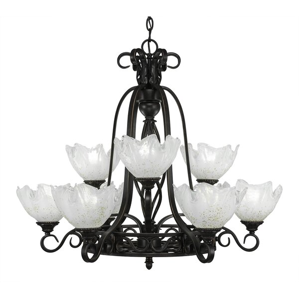 Pierro 9-Light Shaded Tiered Chandelier By Astoria Grand