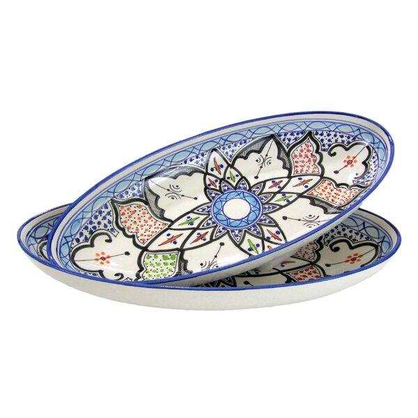 Tibarine Stoneware Platter (Set of 2) by Le Souk Ceramique