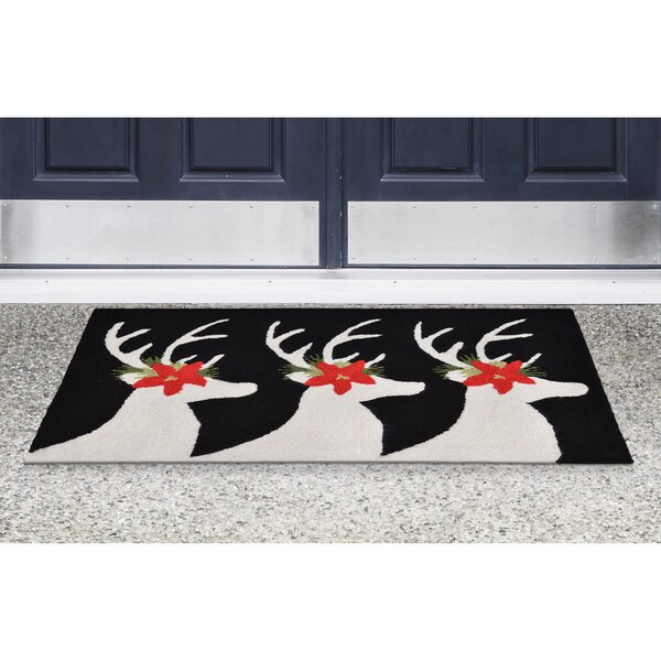 Hand-Tufted Black Indoor/Outdoor Area Rug by The Holiday Aisle