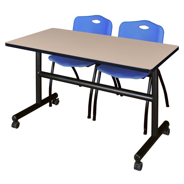 Vaughn Flip Top Mobile Training Table with Wheels by Symple Stuff
