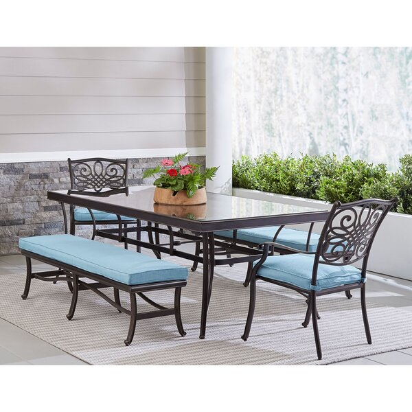 Lauritsen Outdoor 5 Piece Dining Set by Three Posts