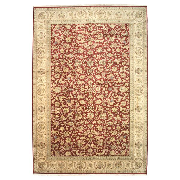 Hand-Knotted Red Area Rug by Meridian Rugmakers