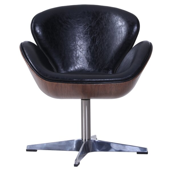 Rudder Swivel Barrel Chair by Orren Ellis