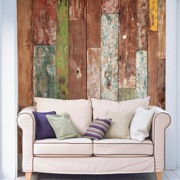 Weathered Wood Wall Mural by Brewster Home Fashions