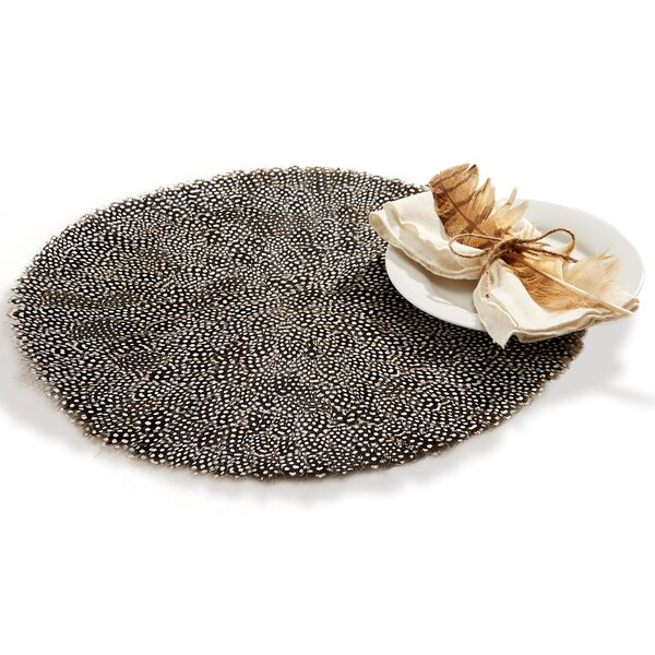 Millstone Guinea Fowl Feather Placemat (Set of 6) by Loon Peak