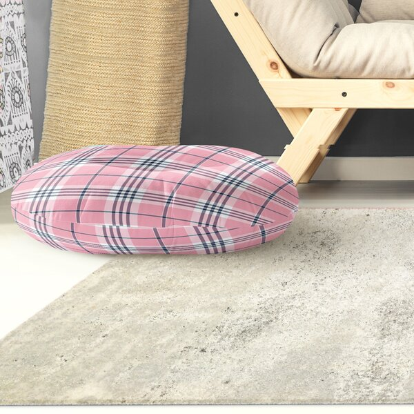 Roshon Indoor/Outdoor Plaid Floor Pillow By Darby Home Co