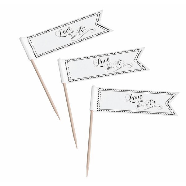 Love is in the Air Cupcake Pick (Set of 12) by Lillian Rose