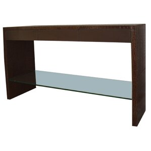 Leather Console Table by Serge De Troyer Collection