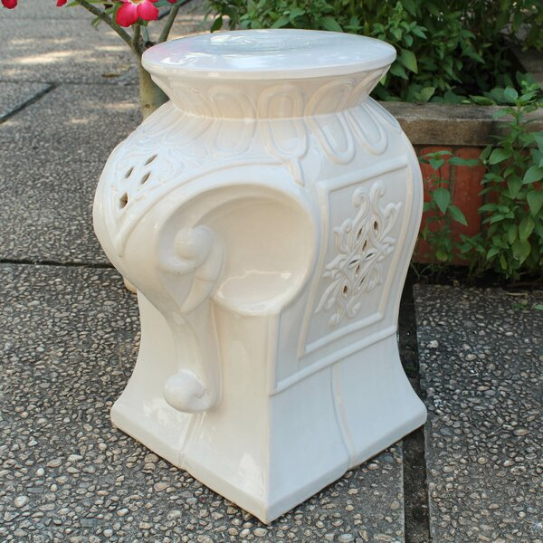 Burleson Elephant Ceramic Garden Stool by Bungalow Rose
