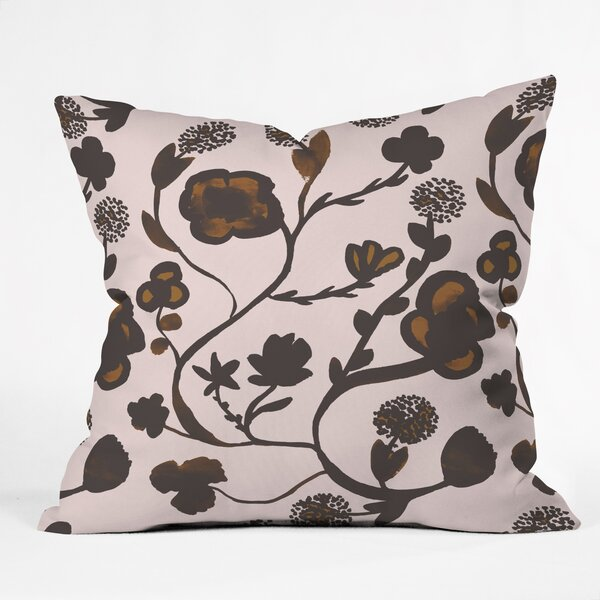 Georgiana Paraschiv Floral II Throw Pillow by Deny Designs