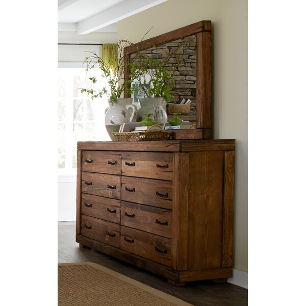 Nyla 8 Drawer Double Dresser with Mirror by Union Rustic