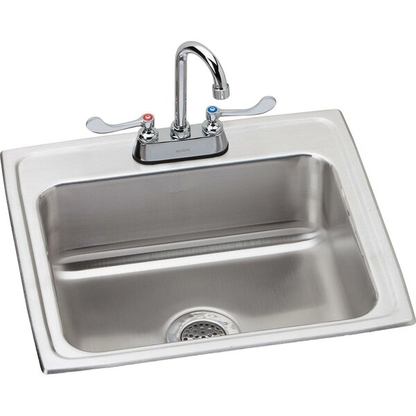 Lustertone 22 L x 19 W Drop-in Sink with Faucet