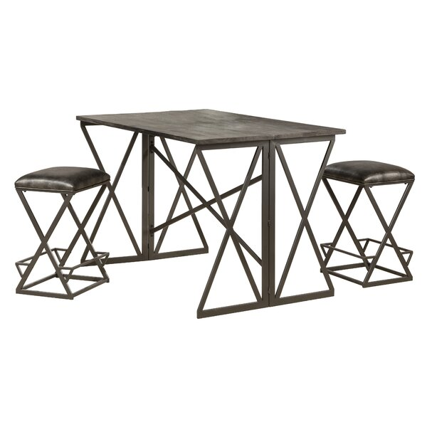 Osterberg 3 Piece Counter Height Breakfast Nook Dining Set by Union Rustic