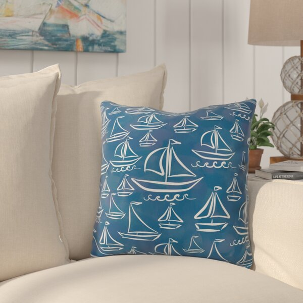 Hillmont Sail Away Outdoor Throw Pillow by Breakwater Bay