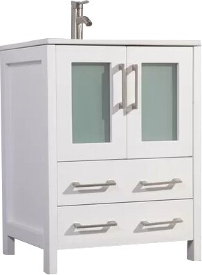 Karson 24 Single Bathroom Vanity Set with Mirror by Wade Logan