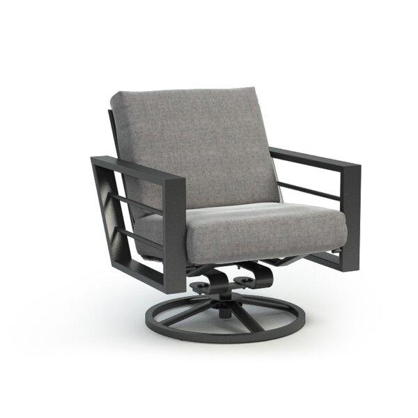 Gallagher Low Back Rocker Chat Swivel Patio Chair with Sunbrella Cushions by Breakwater Bay Breakwater Bay