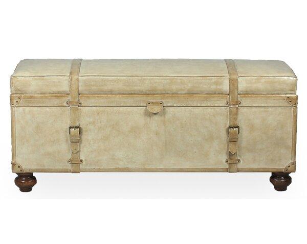 Moralez Leather Storage Bench by Astoria Grand